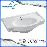 Da mão cerâmica da bacia do gabinete do banheiro dissipador de lavagem Semi-Recessed (ACB4280)