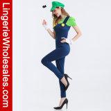 여자의 최고 Mario Bros. Halloween 당을%s Luigi 여성 호화로운 복장