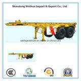 2 de Aanhangwagen van de Vrachtwagen van assen van 20FT de Aanhangwagen van de Container van het Skelet van Oplegger van de Leverancier van China