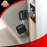 Abajo golpeado cabinete de archivo de la puerta de Tambour del metal del uso de la oficina de la estructura