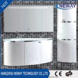 PVC LEDミラーが付いている防水現代浴室用キャビネット