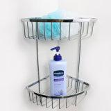 두 배 수건 바 목욕탕 부속품 크롬 금속 목욕탕 선반 (SUS304)
