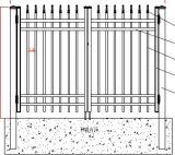 Puerta decorativa de la entrada del hierro labrado de la vendimia de alto nivel 6
