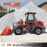 Aufbau-Maschinerie-Minirad-Ladevorrichtung Qingdao-Everun Er16 für Verkauf
