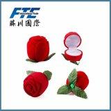 Rectángulo de regalo reciclable del papel de la Navidad de la manera de la pequeña flor roja