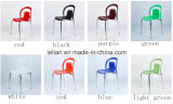 Colorfu stapelndes Plastikmetall, das Stuhl (LL-0035, speist)