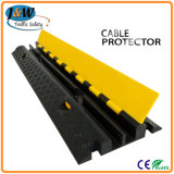 2-Channel Rubber Cable Protetor Ramps Cord Cover com 20 Ton Weight Capacity 1000 * 250 * 50 milímetros