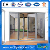 Projeto de alumínio da grade de porta principal da porta da vitrificação dobro da porta do Casement da ruptura térmica da segurança