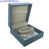 Кожаный коробка упаковки подарка ювелирных изделий с изготовленный на заказ логосом