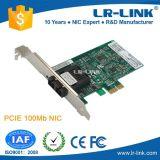 Cartão Desktop do adaptador de rede da fibra de Lrec9020PF 100fx 100base milímetro ou de manutenção programada PCI-E com Sc de PCI Express Pcie, St, SFP disponível