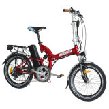 Foldable 가득 차있는 현탁액 250W 소형 포켓 20 인치 바퀴 전기 자전거/Jb-Tdn05z