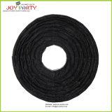 Блестящие черные круглые бумажные фонарики