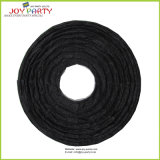 Funkelnde schwarze runde Papierlaternen