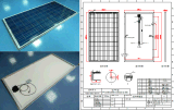 250W Crystalline poli Solar Panel picovolt Module com o FCC Certification do Ce do TUV