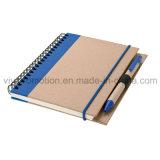 Carnets de notes à spirale de livre À couverture dure de qualité avec la bande élastique pour le cadeau promotionnel (SNB117)