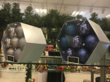 Il natale orna il diametro 100mm della sfera nel barilotto del PVC (personalizzato)