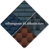 материал толя /Bitumen плитки крыши стеклоткани /Colorful гонта крыши асфальта маштаба рыб 5-Tab с ISO (12 цвета)
