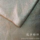 Tissu de suède de traitement d'or de clinquant pour le sofa