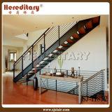 Escadaria de aço do projeto simples para a decoração interna (SJ-H852)