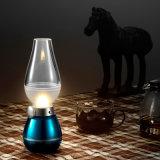 Lumière contrôlée de soufflement de nuit de la lampe de kérosène de la nouveauté rétro DEL DEL