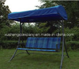 Présidence de luxe d'oscillation de meubles de jardin de 3 portées