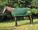 Piping Horse Rug (NEW-03)를 가진 두꺼운 Polar Fleece Presentation Rug