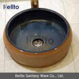 Hand Painted único Porcelain Vessel Sink para Antique Cabinet (C-1100)