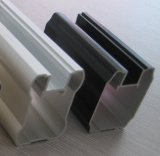 Profil en aluminium de pulvérisation de porte de guichet en aluminium d'extrusion de poudre