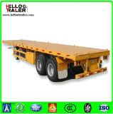 Rimorchio a base piatta del camion del contenitore dei 2 assi 20 piedi del contenitore di rimorchio semi