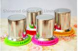 Taza de café de cristal de la taza de la tapa del filtro del acero inoxidable del regalo del regalo colorido de la taza