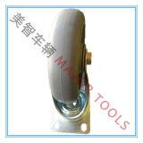 125X32mm TPR Fußrollen-Rad mit 75X45mm Montageplatte