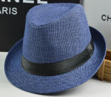 Papier de paille de mode Basic Fedora Tribly Hat