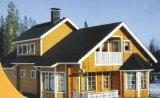 A buon mercato o villa prefabbricata chiara di lusso della struttura d'acciaio