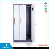 Werknemer gebruikte de Van uitstekende kwaliteit van het Personeel Kd van Mingxiu de Garderobe van het Staal van 3 Deuren voor Kleedkamer
