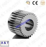 Engrenagem cónica espiral reta helicoidal de aço inoxidável da elevada precisão