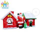 Système gonflable de jouet de Chambre du père noël pour la décoration de Noël