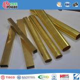 Tubulação 304 de aço inoxidável soldada dourada com certificado do GV