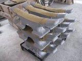 Bolardo doble inclinado marina de Bitts de la soldadura al acero de molde de la amarradura del barco de la nave
