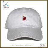 Esportes feitos sob encomenda que funcionam o chapéu de basebol branco do paizinho bordado