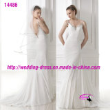Rich Layered Special Beading Dress Wedding with Spaghetti Strap