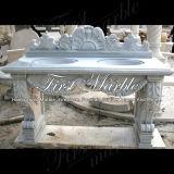 Lavabo di marmo di Metrix Carrara del lavabo del granito del lavabo della pietra del lavabo Mbm-003