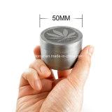 50mm 분쇄기 4개 부품 잎 디자인 금속 나물 담배 향미료 쇄석기