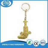 Faca personalizada Keychain chapeado ouro de Oman para presentes relativos à promoção