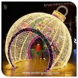 巨大なBall Decoration Light Christmas 3D Motif Light