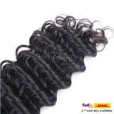 卸し売り深い波の人間の毛髪は加工されていないバージンのマレーシア人の毛を束ねる