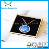Caixa de presente de empacotamento da jóia de papel feita sob encomenda para a colar