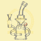 Fumar el tubo de agua 12 pulgadas de 5 mm de reciclaje de tabaco Tall Bow Bowl de vidrio Craft Cenicero de vidrio Pipesfreezable Bobina Illadelph Shisha Glass Water Pipe