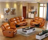 1 + 3 مقاعد أريكة، الجلود الحديثة أريكة، يدوي نوع كرسي صوفا (GA01)