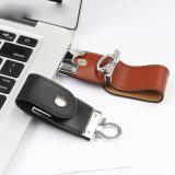 Libero goffratura Logo reale capacità di cuoio Drive USB (TF-0249)