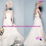 Самый новый чисто свежий Princess Венчание Bridal Одевать с без бретелек